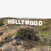3d model of hollywood hill mount sign