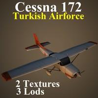 cessna 172 taf 3d model