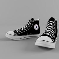 3d model shoe converse