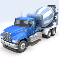 concrete mixer 3d max