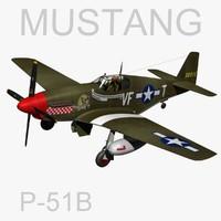 north american p-51b mustang 3d model