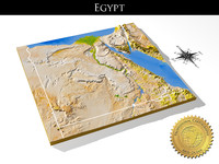 egypt resolution relief maps 3d model