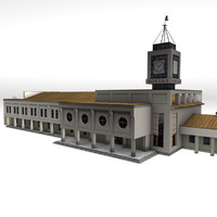 3d train station kostroma ready model