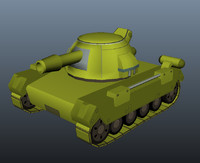 Tank Model Cartoon Style 1