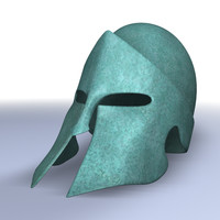 Spartan helmet with patina