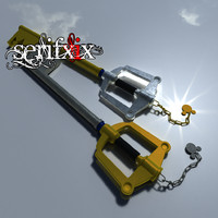 3d model of modelled keyblade