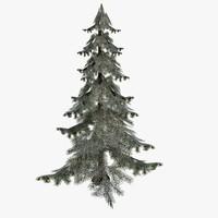 3d model spruce snow