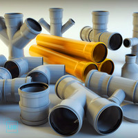 pipe pipeline tube 3d model