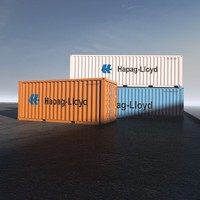 40ft shipping containers 3d 3ds