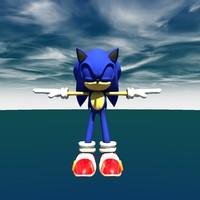 free sonic 3d model