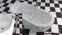 bathtub design 3d model