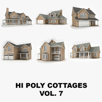 Hi-poly cottages collection vol.7