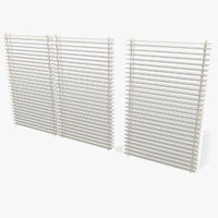 Office Sunblind Panels Window Small open space agency bureau slats entry enter doorway glass private criminal modern new interior shading visualization