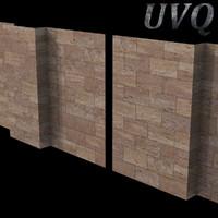 3d model of marble walls