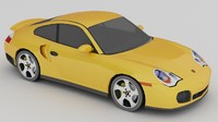 Porsche 911 Turbo (low poly)