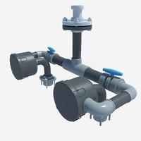 3d model pipe pipeline
