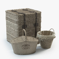 3d model wicker baskets