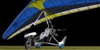 Air Creation Ultralight Trike Low Poly
