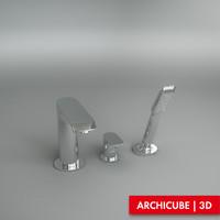 3d model bath tap