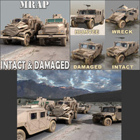intact destroyed apc pack 3d 3ds