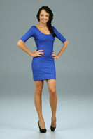 blue dress girl 3d model