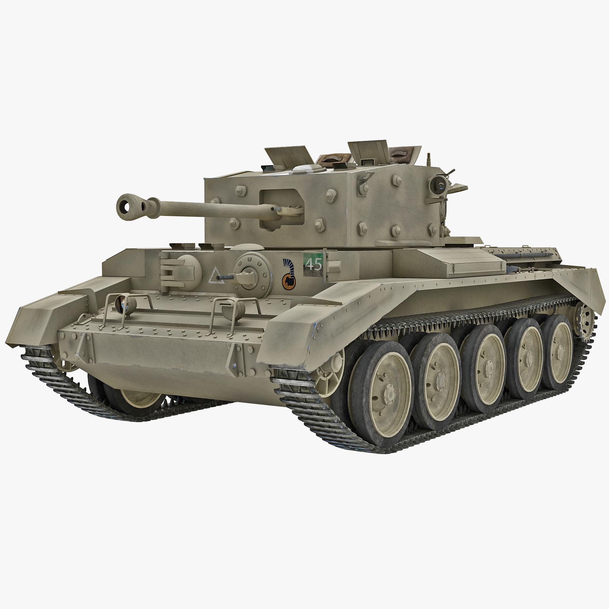 Britain Cruiser WWII Tank Mk VIII Cromwell Yellow Rigged_1.jpg