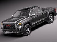 2014 pickup gmc sierra 3d model