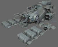 3d 3ds mining ship