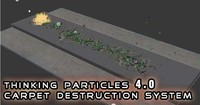 3d thinking particles bombs destruction model