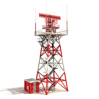Big radar tower (low-poly)