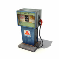 low-poly gas pump 3d model