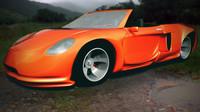 3d convertible sports car model