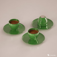 3d model of turkish coffee