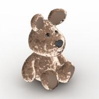 3dsmax dog toy teddy -