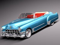 3d american v8 antique luxury model