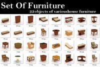 furniture armchair objects max