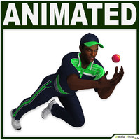 3d ball player cg