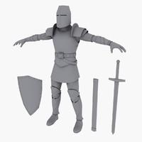 knight medieval obj