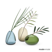 Glass Pebble vases set