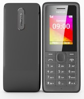 nokia 106 black 3d model