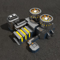 3d powerplant sci-fi building