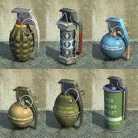 set grenades 3d max