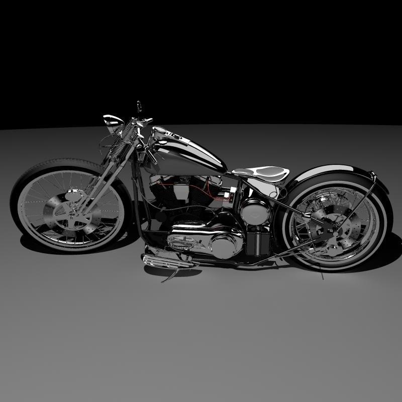 3ds Max Harley Davidson Rigid Frame