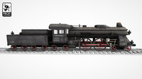 3d model steam locomotive lk 13