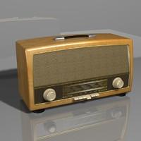 3ds max vintage radio