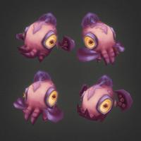 micro squid 3d model