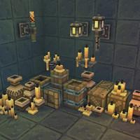 maya pixel dungeon set deco