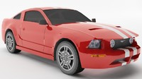 Ford Mustang GT500 Shelby (low poly)