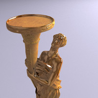 3d gold statue