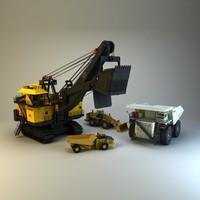 3dsmax 4 mining vehiles